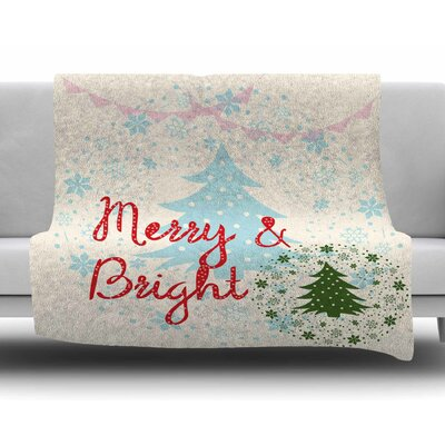 Merry and Bright by Famenxt Fleece Blanket