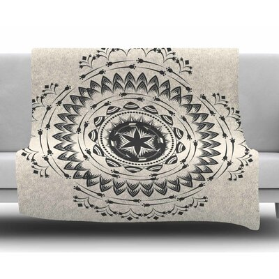 Boho Tribe Mandala by Famenxt Fleece Blanket