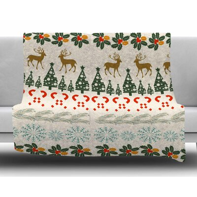 Christmas Vibes by Famenxt Fleece Blanket