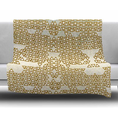 Mint & Gold Empire by Pom Graphic Design Fleece Blanket