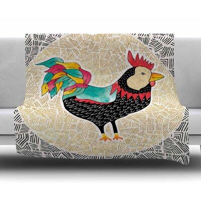 Cuckaroo Rooster by Pom Graphic Design Fleece Blanket