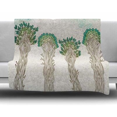 Amazon Trees by Pom Graphic Design Fleece Blanket