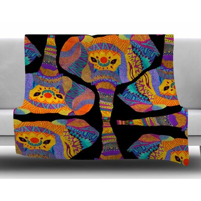The Elephant in the Room by Pom Graphic Design Fleece Blanket