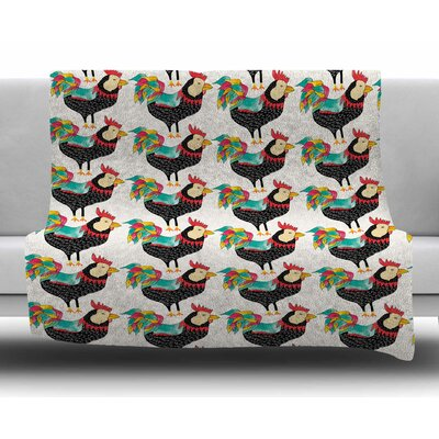 The Rooster Squad by Pom Graphic Design Fleece Blanket