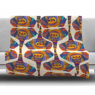 Elephant Play by Pom Graphic Design Fleece Blanket
