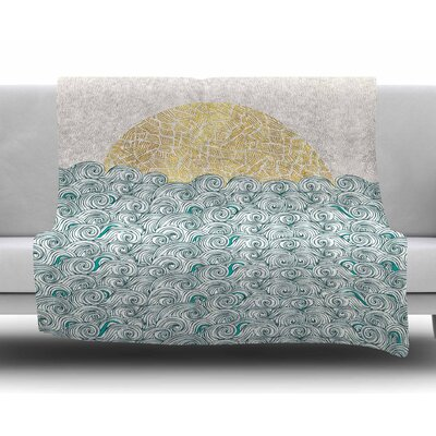 Sunny Tribal Seas Ii by Pom Graphic Design Fleece Blanket