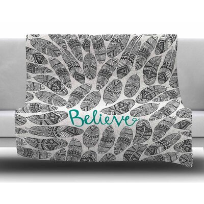 Believe by Pom Graphic Design Fleece Blanket