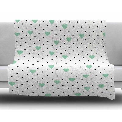 Pin Point Polka Dot Mint by Project M Fleece Blanket