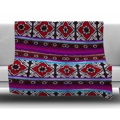 Sindhi Ajrak by S. Seema Z Fleece Blanket