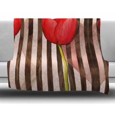 Classic Rose by S. Seema Z Fleece Blanket