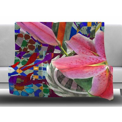 Lily Explosion by S. Seema Z Fleece Blanket