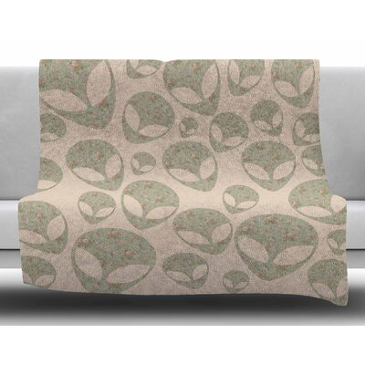 Abducting the Flowers by Alias Fleece Blanket