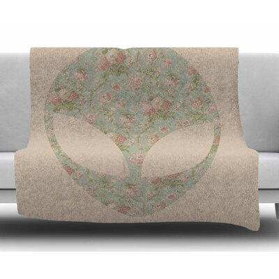 Floral Alien by Alias Fleece Blanket