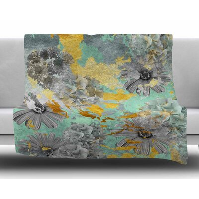 Gold Garden by Zara Martina Mansen Fleece Blanket