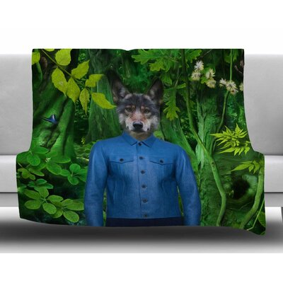 Into the Leaves N3 by Natt Fleece Blanket