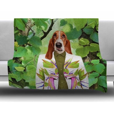 Into the Leaves N6 by Natt Fleece Blanket