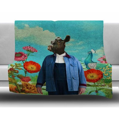 Family Portrait N2 by Natt Fleece Blanket