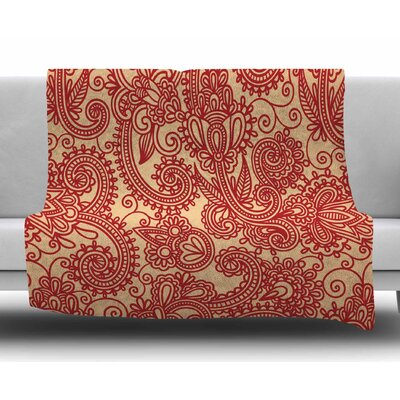 Floral Loop by Fotios Pavlopoulos Fleece Blanket