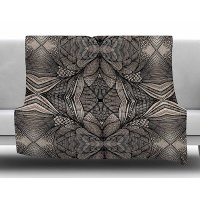 Fantazia Black by Gill Eggleston Fleece Blanket