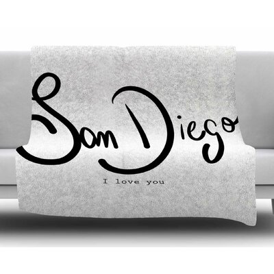 San Diego I Love You by Gabriela Fuente Fleece Blanket