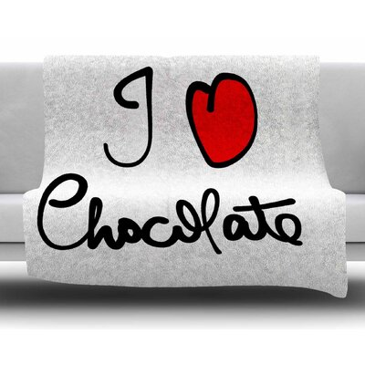 I Love Chocolate by Gabriela Fuente Fleece Blanket