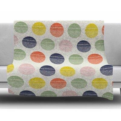 Rainbow Dots by Gukuuki Fleece Blanket
