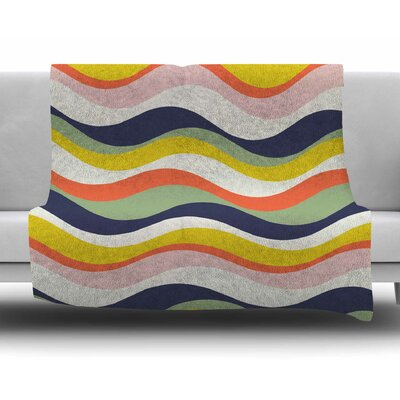 Rainbow Stripes by Gukuuki Fleece Blanket