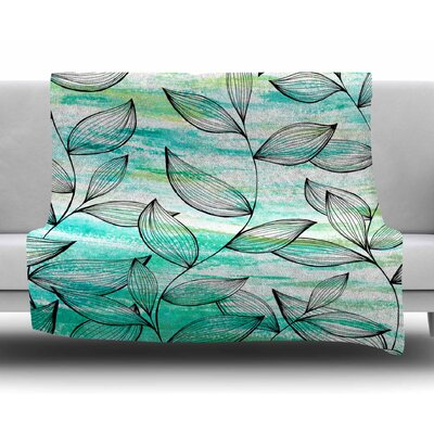 Tropical Leaf Garden By Jessica Wilde Fleece Blanket
