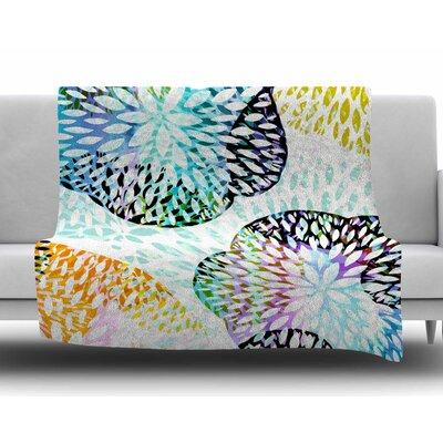 Tropical Flora by Jessica Wilde Fleece Blanket