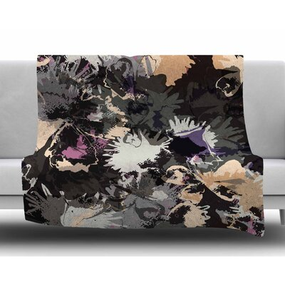 Punk Floral by Jessica Wilde Fleece Blanket