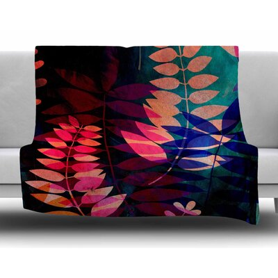 Dark Jungle by Jessica Wilde Fleece Blanket