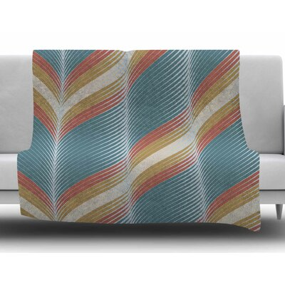 Wavy Chevron by Karina Edde Fleece Blanket