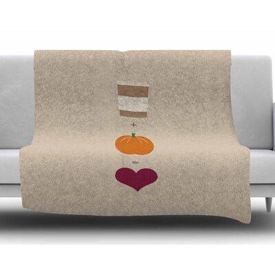 Pumpkin Spice Latte Fleece Blanket