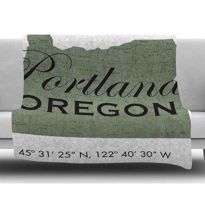 Portland Coordinates by Juan Paolo Fleece Blanket