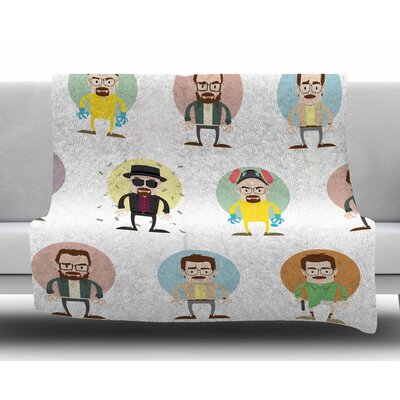 The Stages of Walter White by Juan Paolo Fleece Blanket