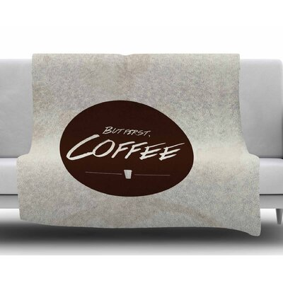 But First, Coffee by Juan Paolo Fleece Blanket
