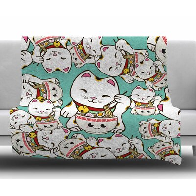 Ramen Cats by Juan Paolo Fleece Blanket