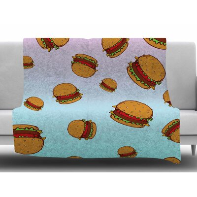 Cheeseburger Paradise by Juan Paolo Fleece Blanket