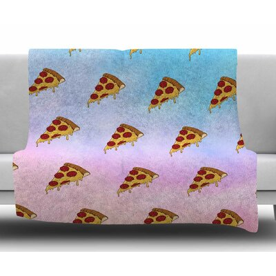 Lucid Pizza by Juan Paolo Fleece Blanket
