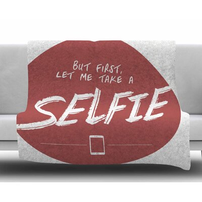 Let Me Take a Selfie by Juan Paolo Fleece Blanket