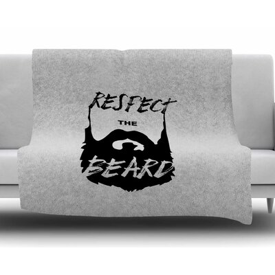 Respect the Beard by Juan Paulo Fleece Blanket
