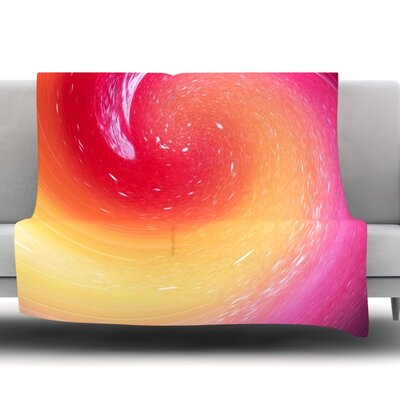 Spacewave by Infinite Spray Art Fleece Blanket