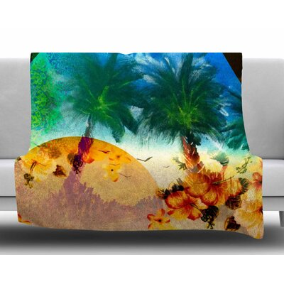 Paradise Patterns by Infinite Spray Art Fleece Blanket