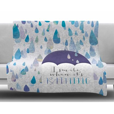 I Smile When Its Raining by Noonday Design Fleece Blanket