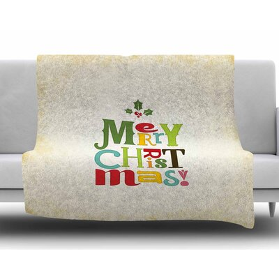 Merry Christmas by Noonday Design Fleece Blanket