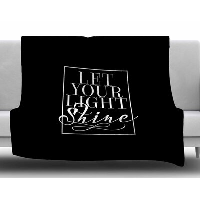 Let Your Light Shine by Noonday Design Fleece Blanket