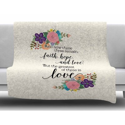 Faith, Hope, and Love by Noonday Design Fleece Blanket