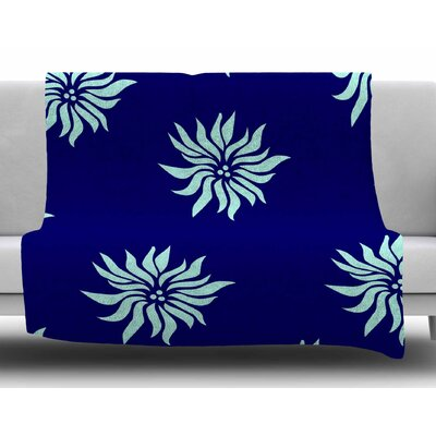 Snow Flowers by NL Designs Fleece Blanket