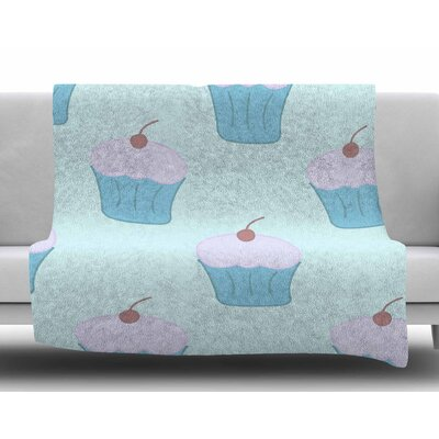 Blue Cupcakes by NL Designs Fleece Blanket