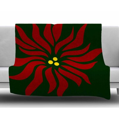 Pointsettia by NL Designs Fleece Blanket